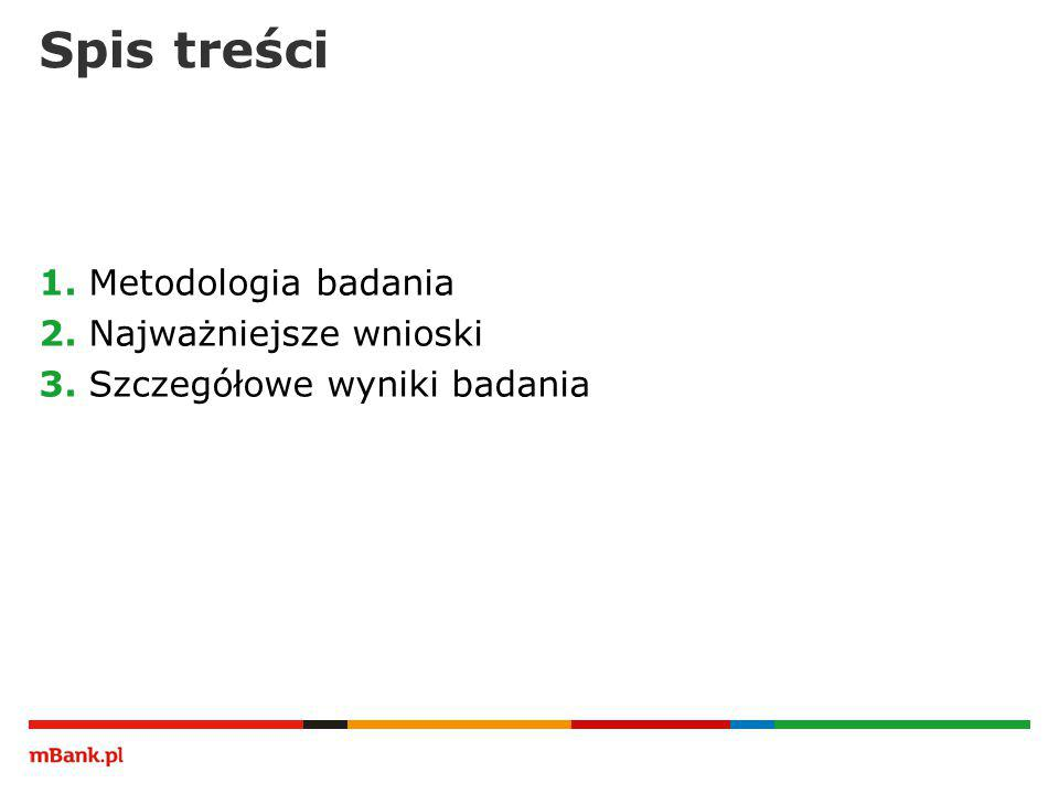 Spis treści 1. Metodologia badania 2. Najważniejsze wnioski 3. Szczegółowe wyniki badania
