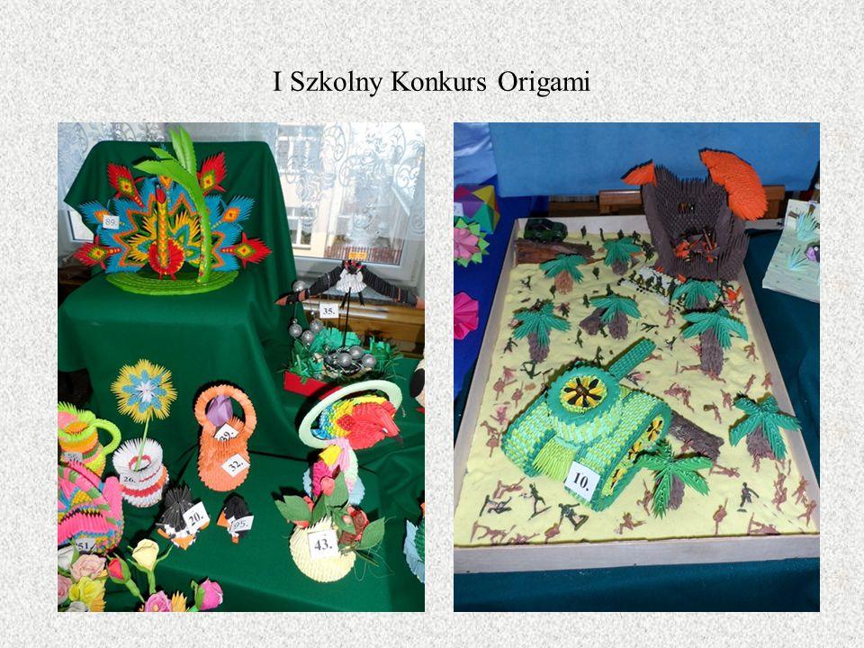 I Szkolny Konkurs Origami