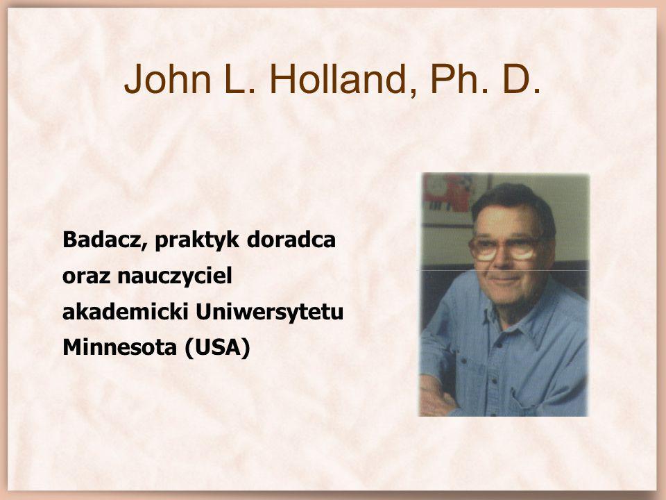 KONCEPCJA OSOBOWOŚCI ZAWODOWEJ JOHNA HOLLANDA Realistyczny(R) Konwencjonalny(C) Badawczy(I) Artystyczny(A) Przedsiębiorczy(E)Społeczny(S)