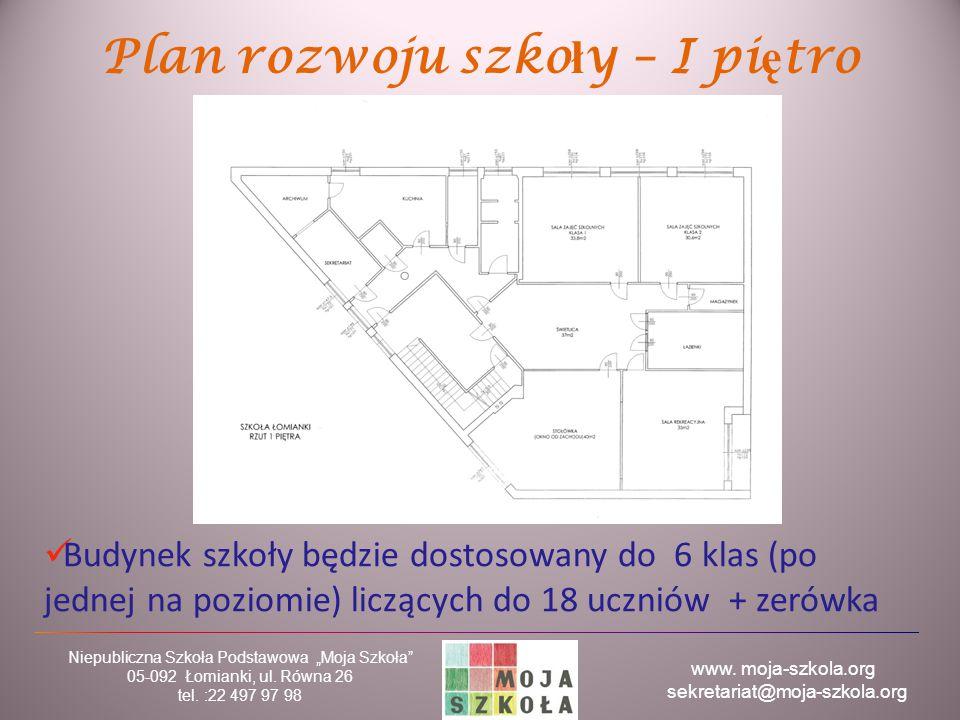 """www. moja-szkola.org sekretariat@moja-szkola.org Niepubliczna Szkoła Podstawowa """"Moja Szkoła"""" 05-092 Łomianki, ul. Równa 26 tel. :22 497 97 98 Plan ro"""