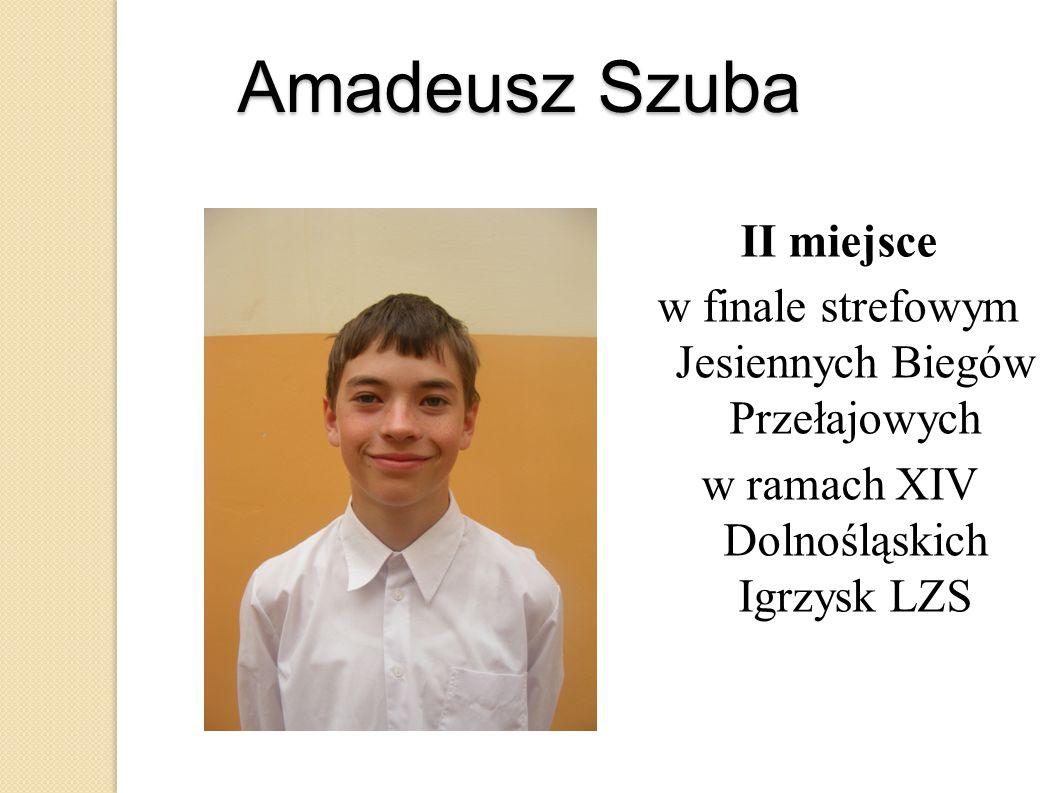 Amadeusz Szuba II miejsce w finale strefowym Jesiennych Biegów Przełajowych w ramach XIV Dolnośląskich Igrzysk LZS