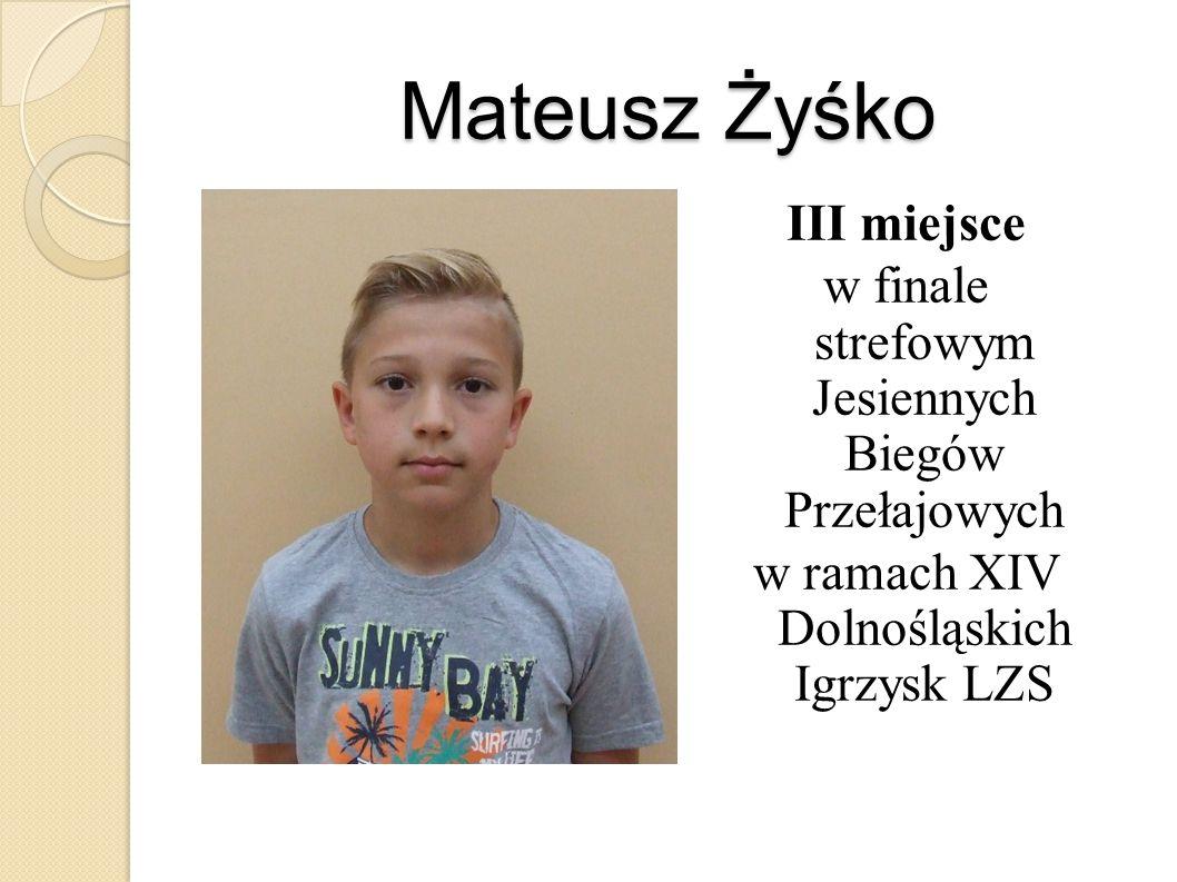Mateusz Żyśko III miejsce w finale strefowym Jesiennych Biegów Przełajowych w ramach XIV Dolnośląskich Igrzysk LZS