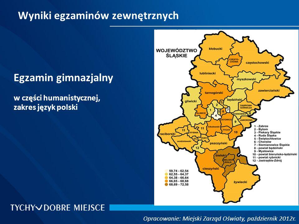 Język angielski - poziom rozszerzony Opracowanie: Miejski Zarząd Oświaty, październik 2012r.