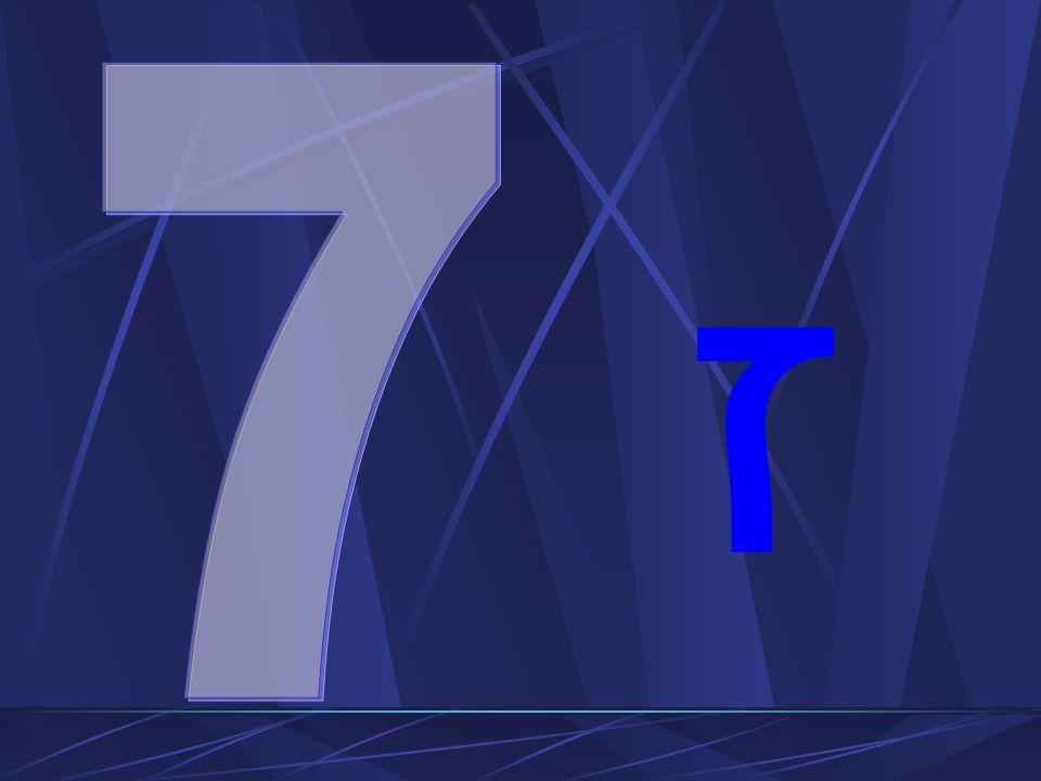 Liczba siedem to: Suma trzech i czterech Nieba i ziemi Oznacza pełnię i doskonałość Jest 7 ciał niebieskich (słońce, księżyc i 5 planet znanych starożytnym) Jest siedem dni w tygodniu Siedmiu Archaniołów