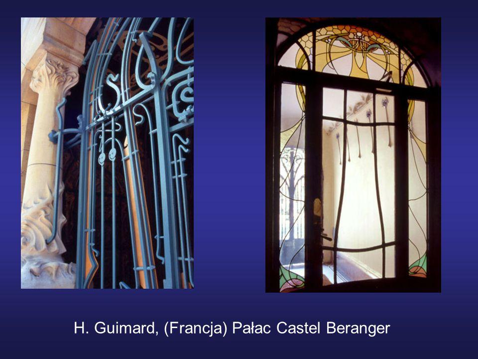 H. Guimard, (Francja) Pałac Castel Beranger