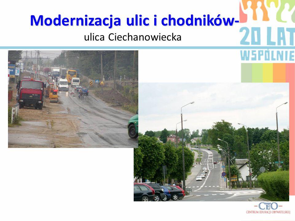 M MM Modernizacja ulic i chodników- ulica Ciechanowiecka