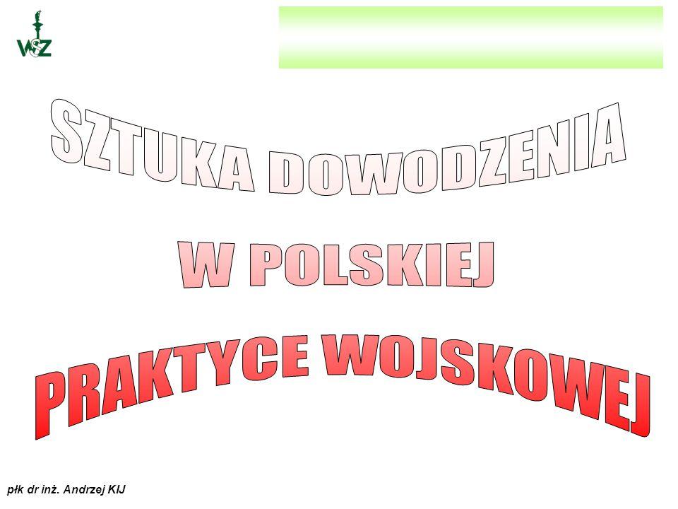 płk dr inż.Andrzej KIJ istnieją dwa związane ze sobą moduły dynamiczne: kierujący i wykonawczy.