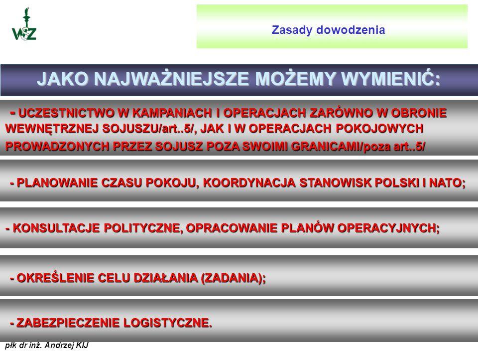 płk dr inż. Andrzej KIJ DECENTRALIZACJA DOWODZENIA DECENTRALIZACJA DOWODZENIA (DECENTRALISATION) STRUKTURA DOWODZENIA JEST ZWYKLE HIERARCHICZNA. JEDNA
