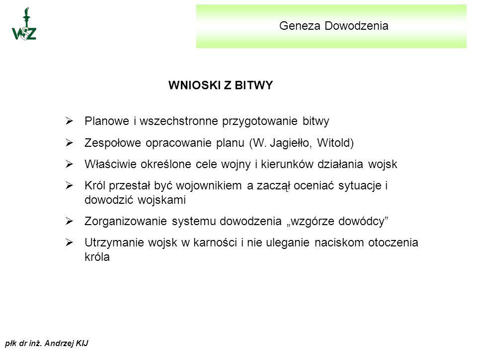 płk dr inż. Andrzej KIJ Geneza Dowodzenia