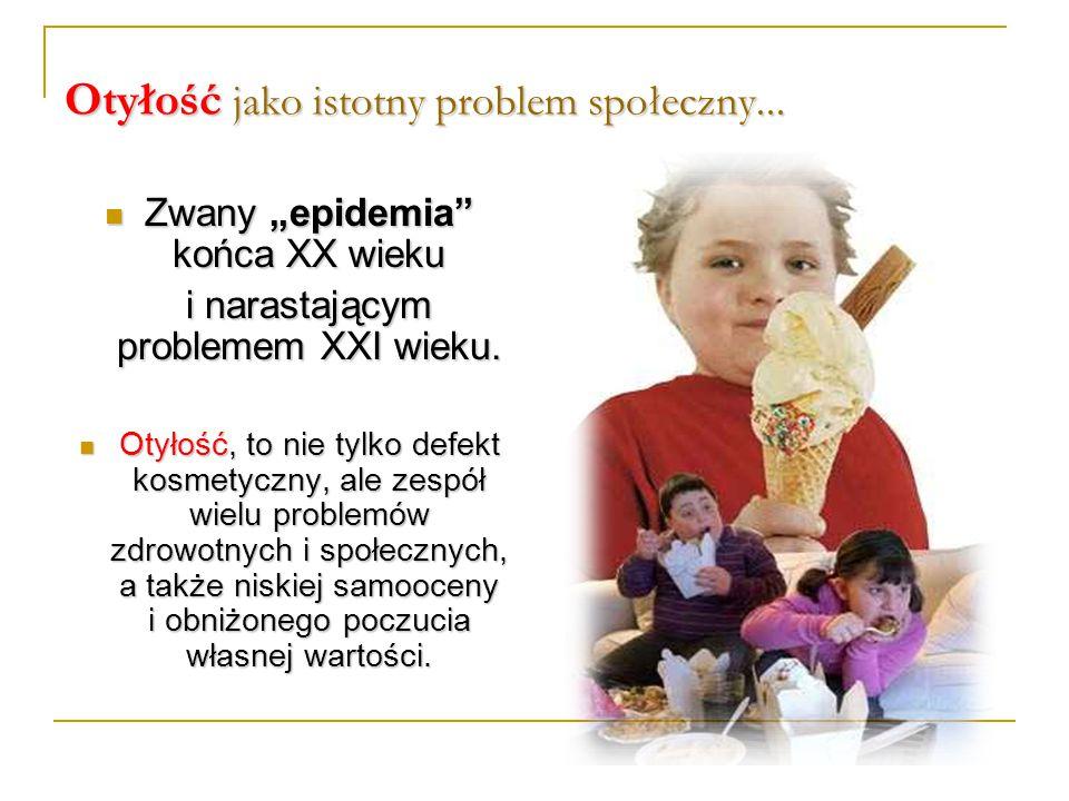 """Otyłość jako istotny problem społeczny... Zwany """"epidemia"""" końca XX wieku Zwany """"epidemia"""" końca XX wieku i narastającym problemem XXI wieku. Otyłość,"""
