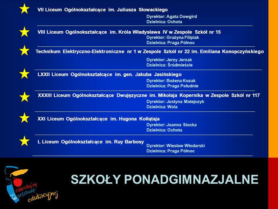 SZKOŁY PONADGIMNAZJALNE VII Liceum Ogólnokształcące im.