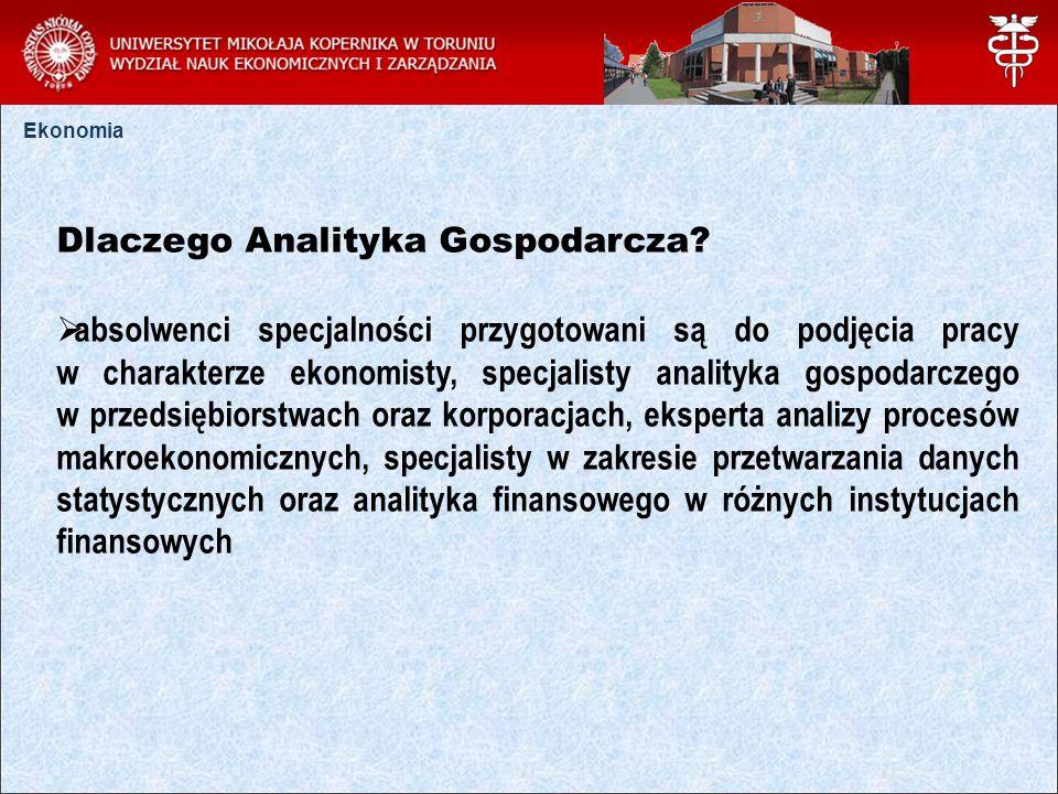 Ekonomia Dlaczego Analityka Gospodarcza.