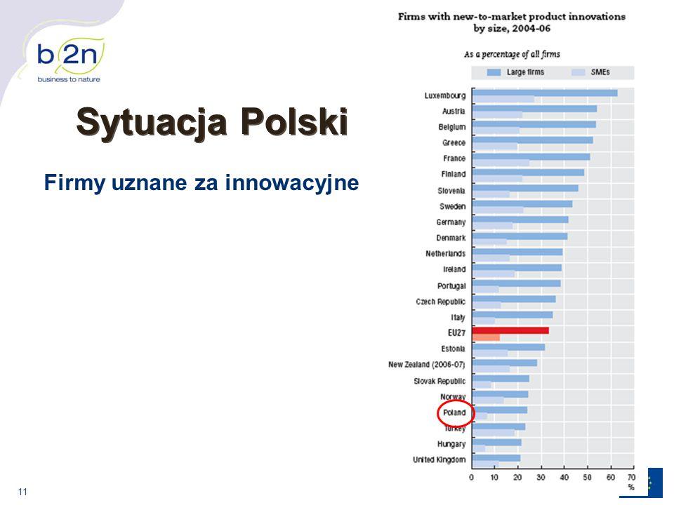 11 Sytuacja Polski Firmy uznane za innowacyjne