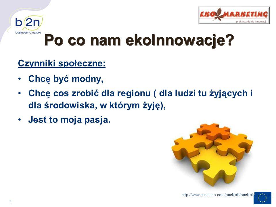 28 Sektor spożywczy: innowacyjne ekologiczne procesy produkcyjne, wykorzystanie materiałów nieprzetworzonych, redukcja organicznych i nieorganicznych odpadów, technologie wodooszczędne; http://www.e-kefirek.pl/images/1.jpg Oddziaływanie przedsiębiorstw