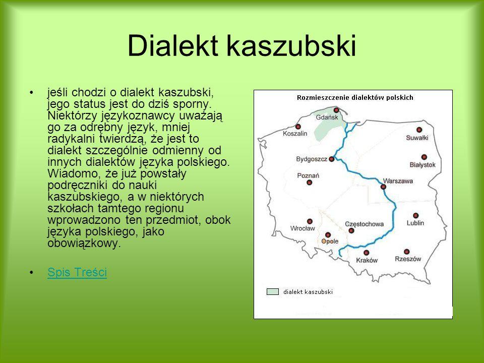 Dialekt kaszubski jeśli chodzi o dialekt kaszubski, jego status jest do dziś sporny. Niektórzy językoznawcy uważają go za odrębny język, mniej radykal
