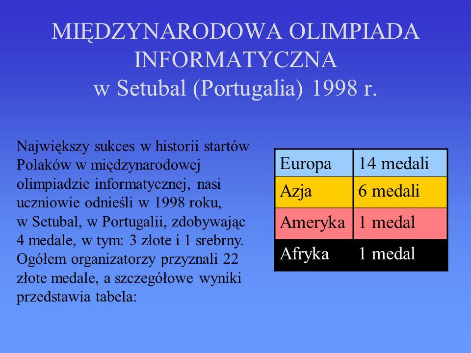 MIĘDZYNARODOWA OLIMPIADA INFORMATYCZNA w Setubal (Portugalia) 1998 r.