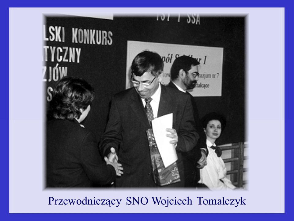 Przewodniczący SNO Wojciech Tomalczyk
