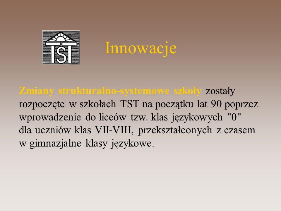 Zmiany strukturalno-systemowe szkoły zostały rozpoczęte w szkołach TST na początku lat 90 poprzez wprowadzenie do liceów tzw.