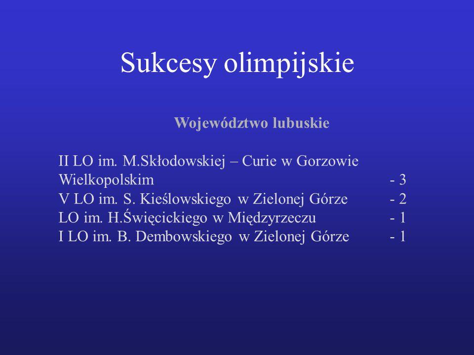 Województwo lubuskie II LO im.M.Skłodowskiej – Curie w Gorzowie Wielkopolskim- 3 V LO im.