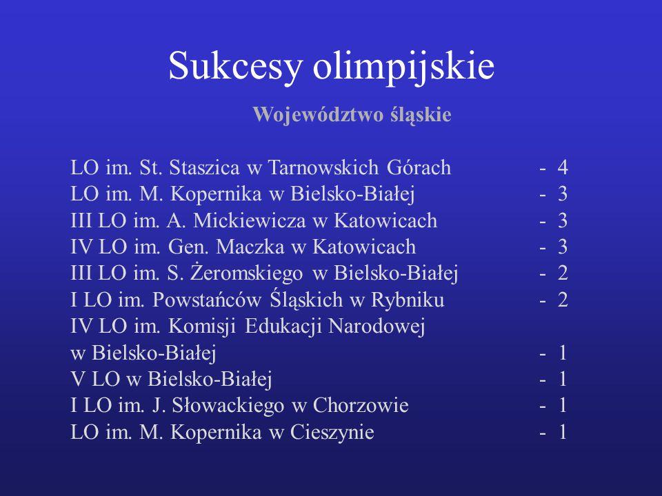 Województwo śląskie LO im.St. Staszica w Tarnowskich Górach- 4 LO im.