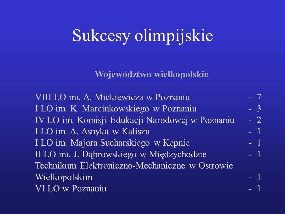 Województwo wielkopolskie VIII LO im.A. Mickiewicza w Poznaniu- 7 I LO im.