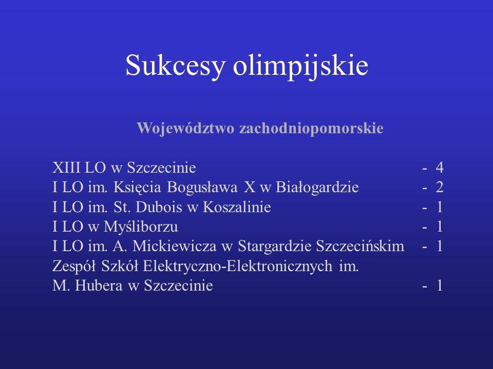 Województwo zachodniopomorskie XIII LO w Szczecinie- 4 I LO im.