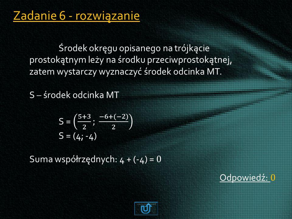 Zadanie 6 - rozwiązanie