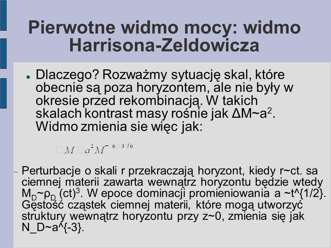 Pierwotne widmo mocy: widmo Harrisona-Zeldowicza Dlaczego.