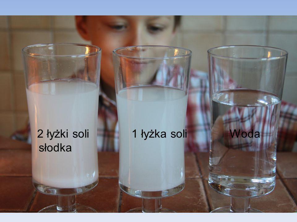2 łyżki soli 1 łyżka soli Woda słodka