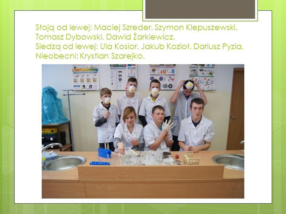 Stoją od lewej: Maciej Szreder, Szymon Klepuszewski, Tomasz Dybowski, Dawid Żarkiewicz.