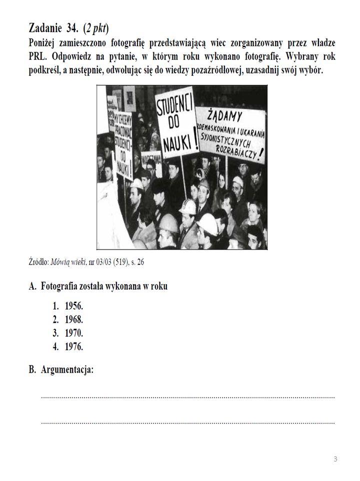Zadanie 15.(1 pkt) Poniżej zamieszczono fragment pracy historyka Jerzego Eislera.