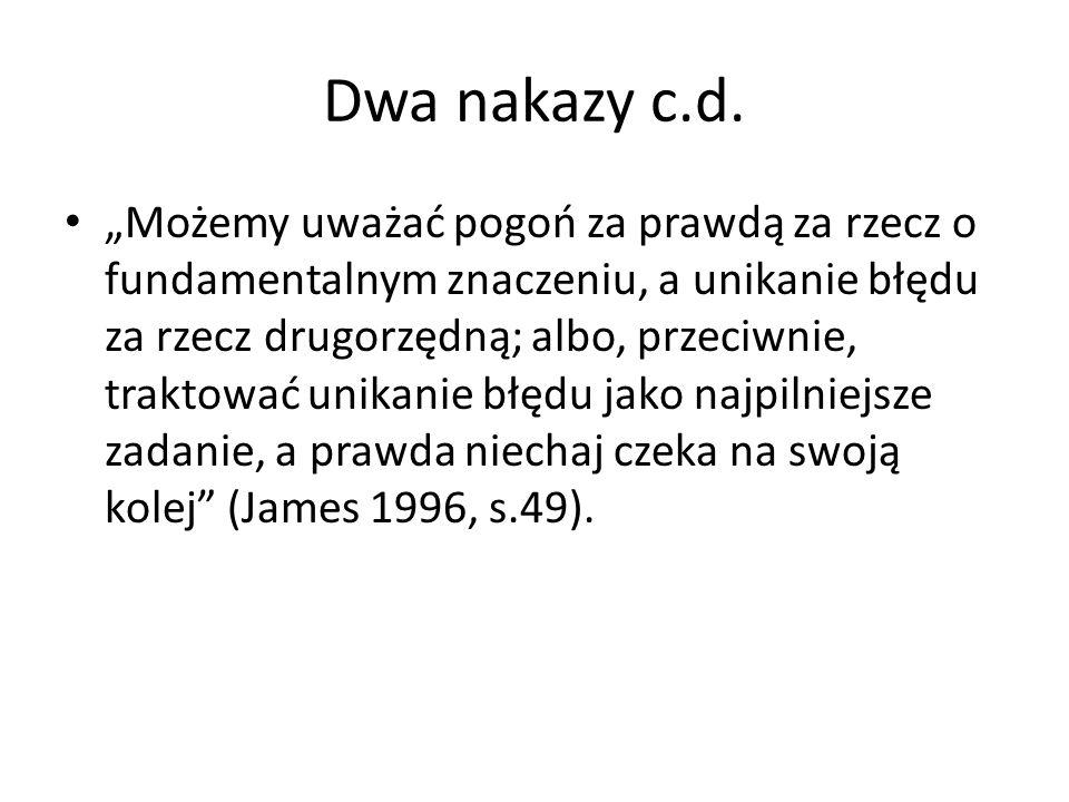 Dwa nakazy c.d.