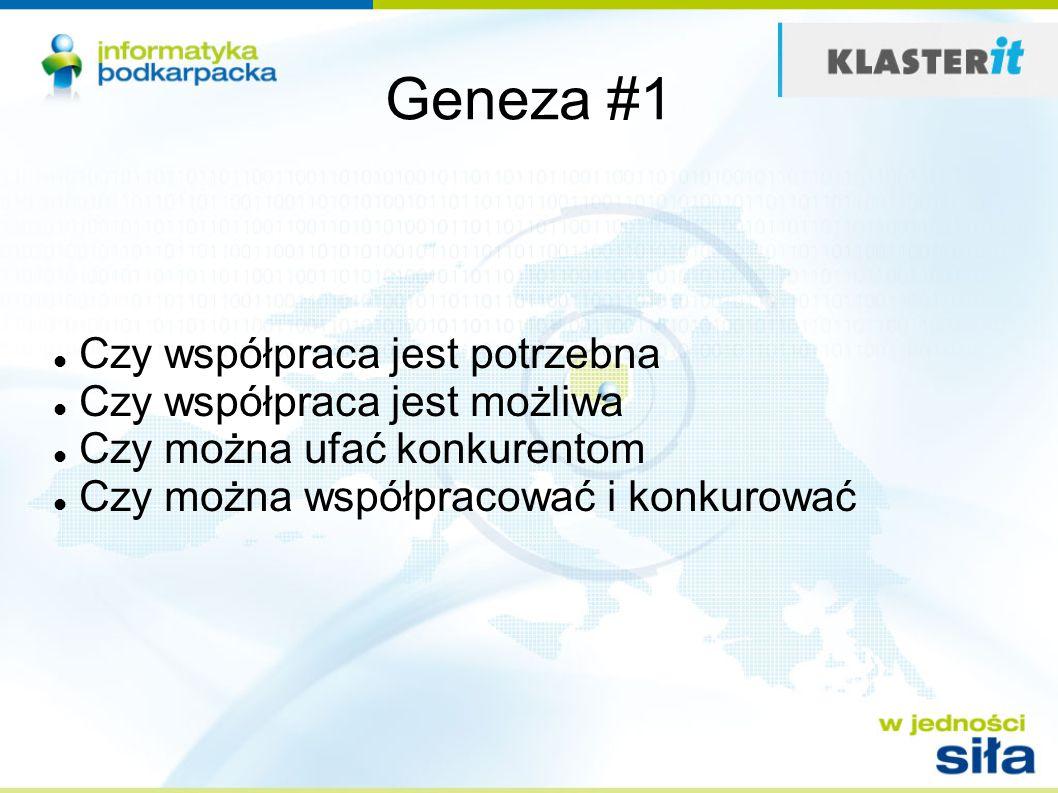 Geneza #1 Czy współpraca jest potrzebna Czy współpraca jest możliwa Czy można ufać konkurentom Czy można współpracować i konkurować