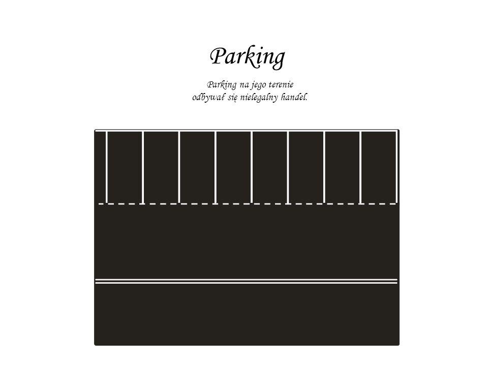 Parking Parking na jego terenie odbywał się nielegalny handel.