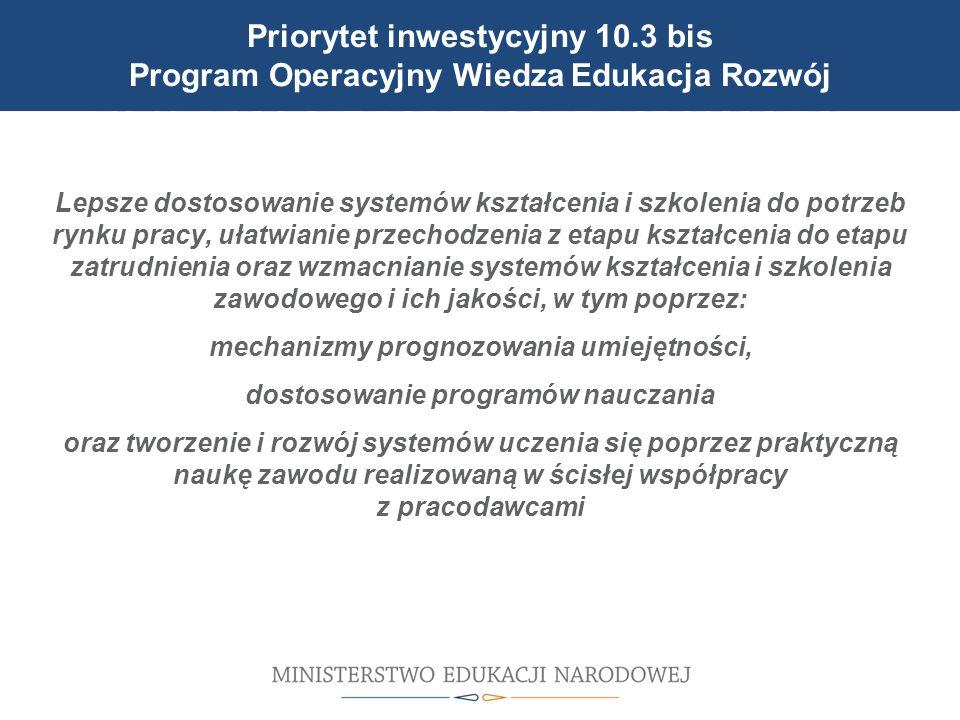 Cele reformy wprowadzonej 1 września 2012 r. Lepsze dostosowanie systemów kształcenia i szkolenia do potrzeb rynku pracy, ułatwianie przechodzenia z e