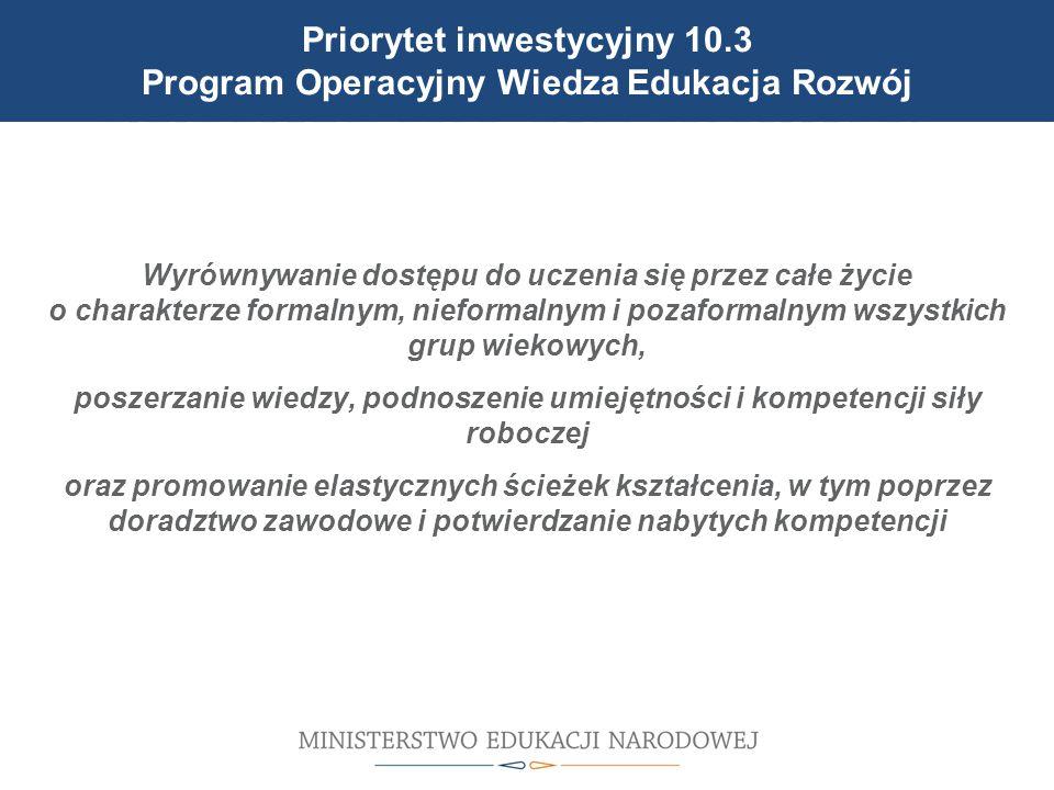 Cele reformy wprowadzonej 1 września 2012 r. Wyrównywanie dostępu do uczenia się przez całe życie o charakterze formalnym, nieformalnym i pozaformalny