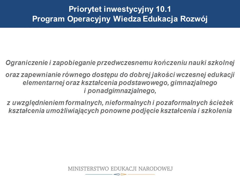 Cele reformy wprowadzonej 1 września 2012 r. Ograniczenie i zapobieganie przedwczesnemu kończeniu nauki szkolnej oraz zapewnianie równego dostępu do d