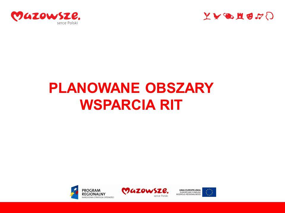 PLANOWANE OBSZARY WSPARCIA RIT