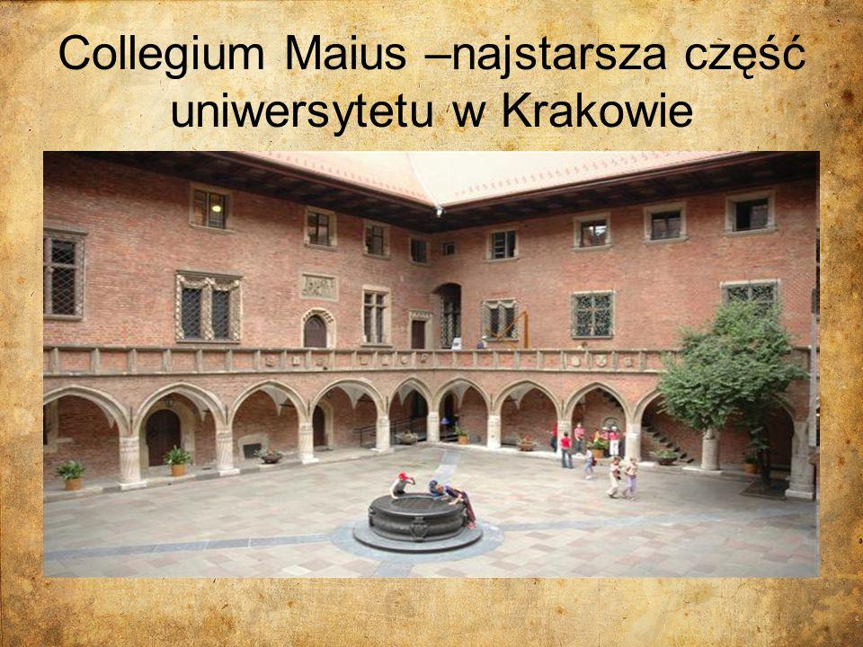 Collegium Maius –najstarsza część uniwersytetu w Krakowie