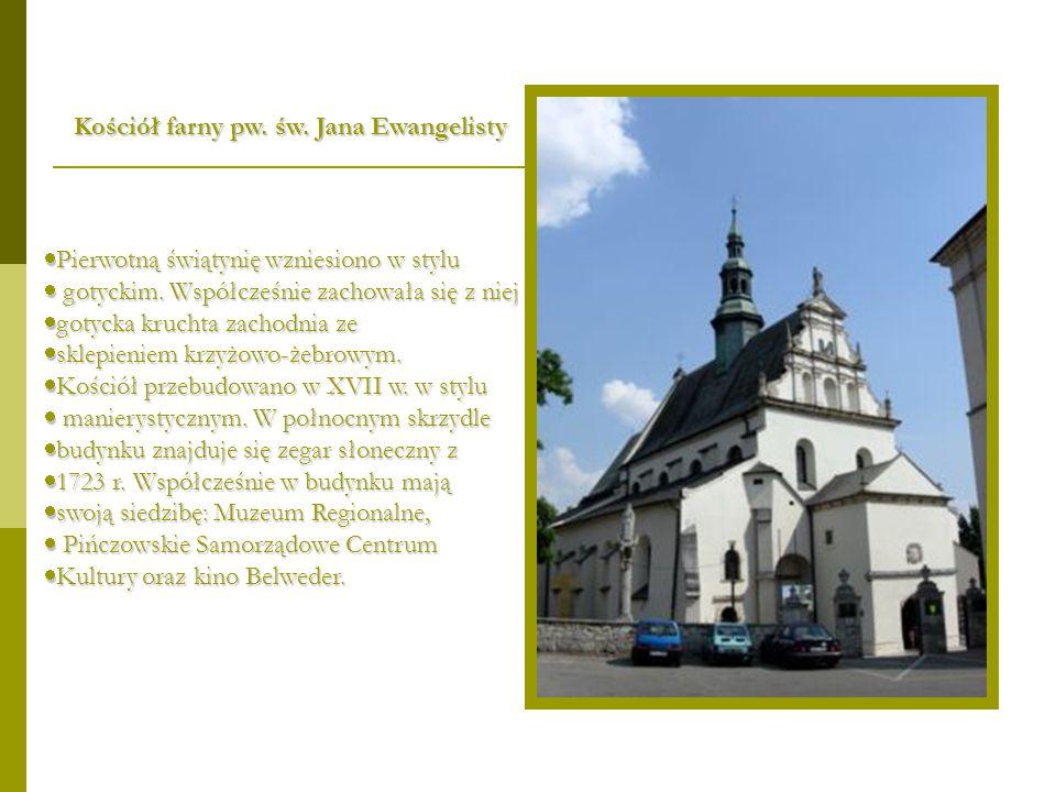  Pierwotną świątynię wzniesiono w stylu  gotyckim. Współcześnie zachowała się z niej  gotycka kruchta zachodnia ze  sklepieniem krzyżowo-żebrowym.