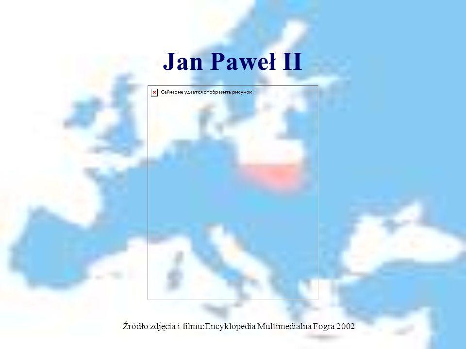 Jan Paweł II Źródło zdjęcia i filmu:Encyklopedia Multimedialna Fogra 2002