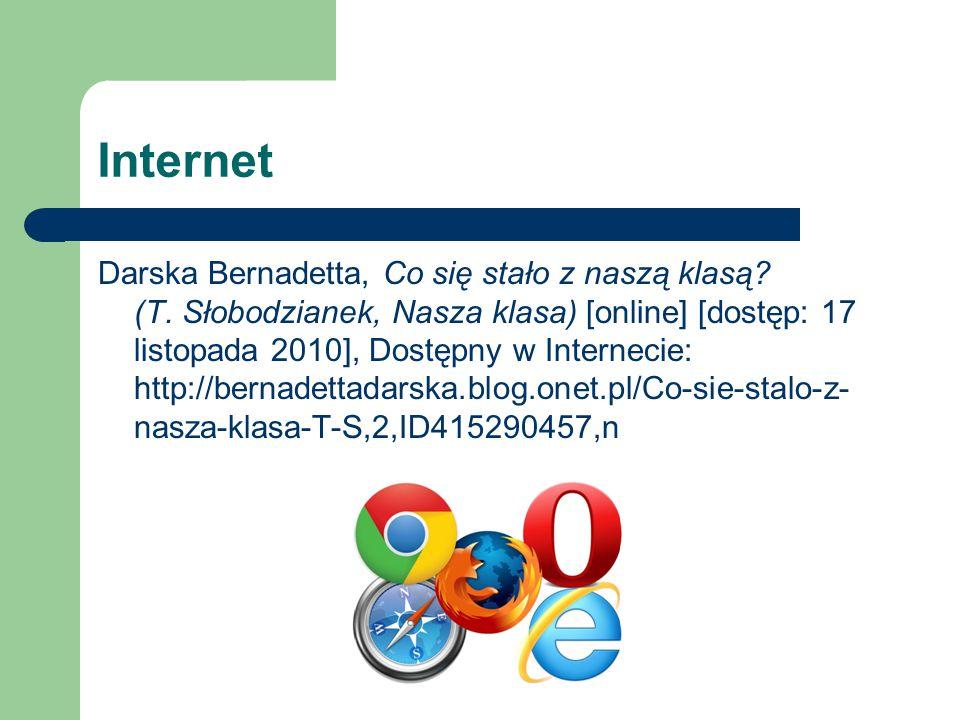 Internet Darska Bernadetta, Co się stało z naszą klasą.