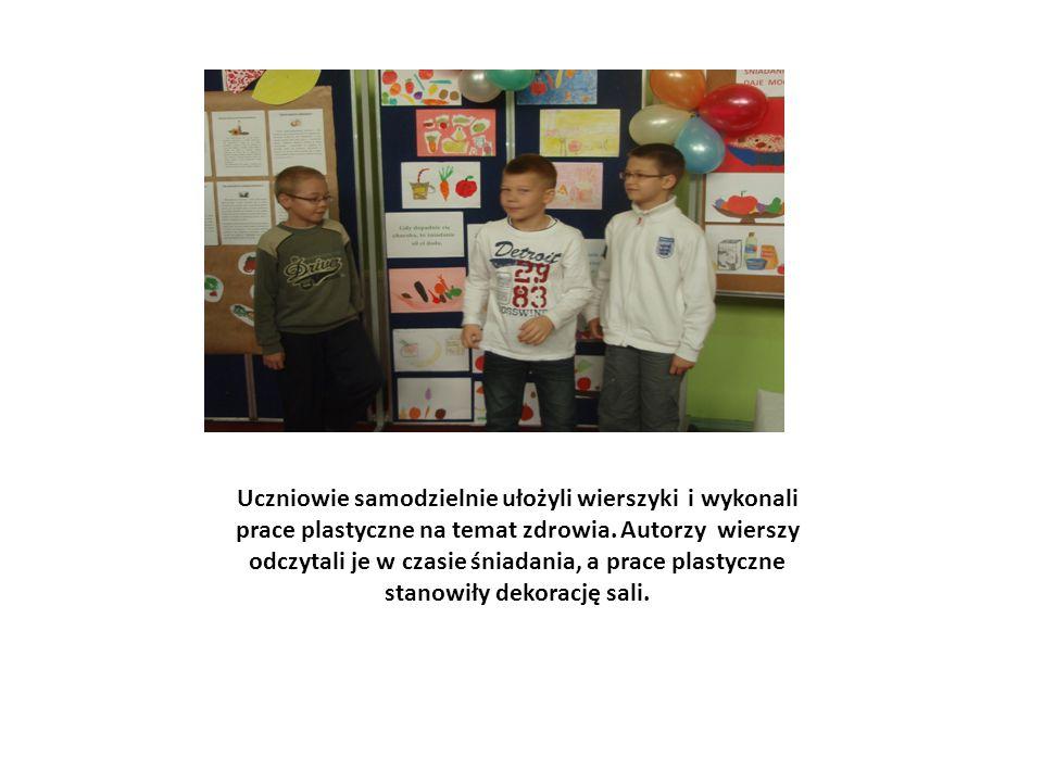 Uczniowie samodzielnie ułożyli wierszyki i wykonali prace plastyczne na temat zdrowia.