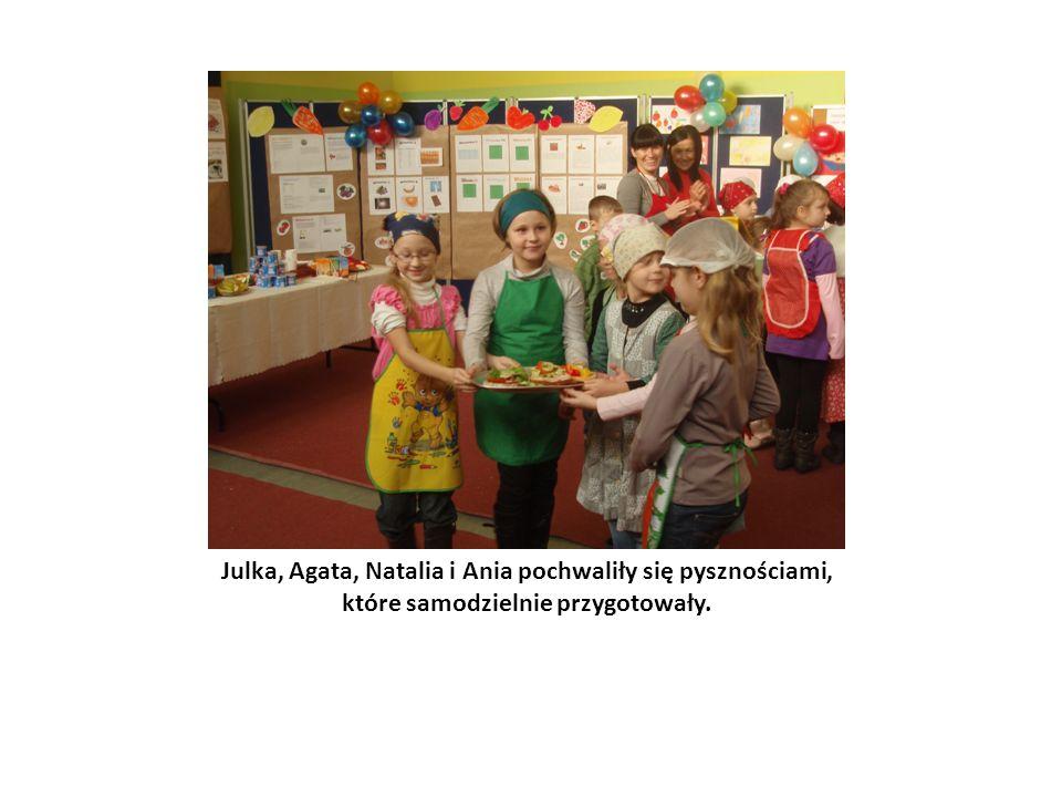 Julka, Agata, Natalia i Ania pochwaliły się pysznościami, które samodzielnie przygotowały.