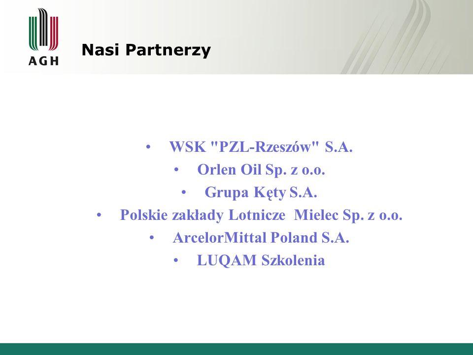 Nasi Partnerzy WSK PZL-Rzeszów S.A. Orlen Oil Sp.
