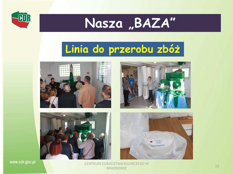 """CENTRUM DORADZTWA ROLNICZEGO W BRWINOWIE 22 Nasza """"BAZA"""" Linia do przerobu zbóż"""