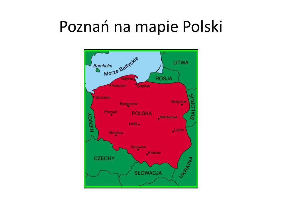 Poznań na mapie Polski