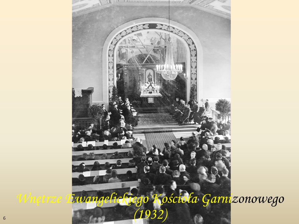 Wnętrze Ewangelickiego Kościoła Garnizonowego (1932) 6