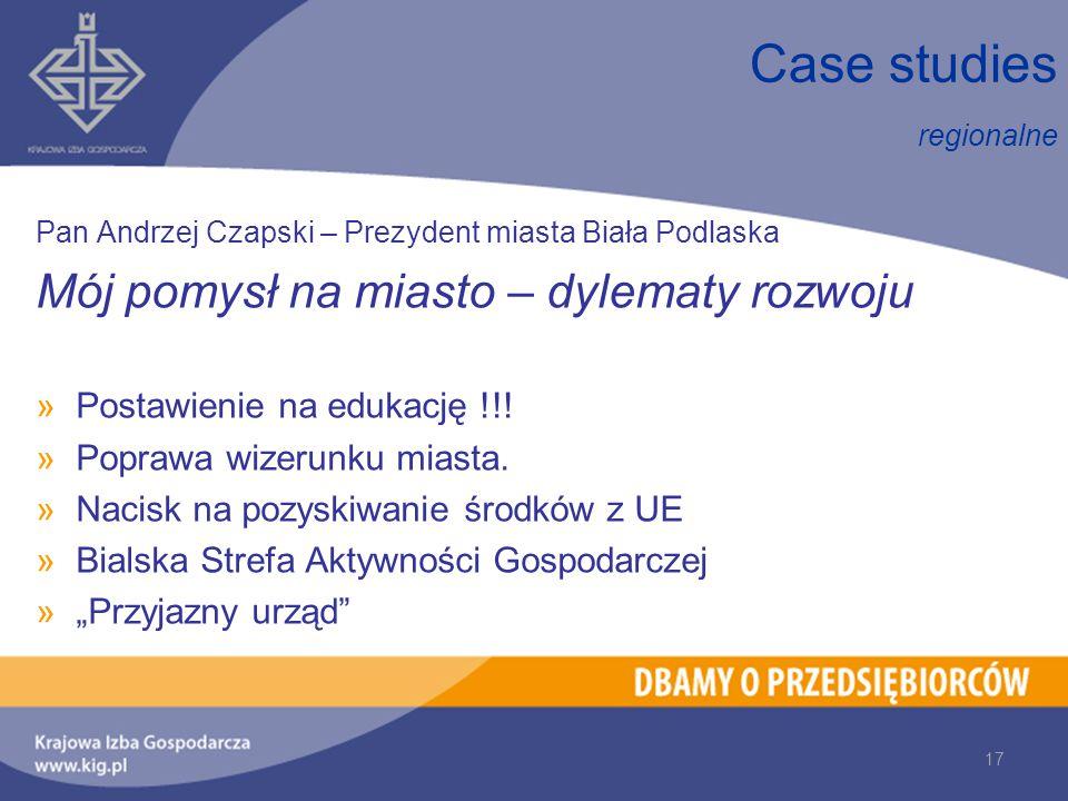 Pan Andrzej Czapski – Prezydent miasta Biała Podlaska Mój pomysł na miasto – dylematy rozwoju »Postawienie na edukację !!.