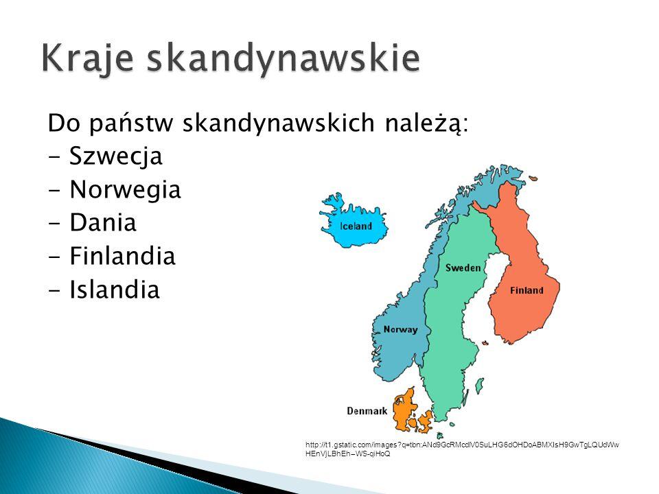 ◦ Środowisko przyrodnicze Półwyspu Skandynawskiego jest najmniej przekształcone w Europie.